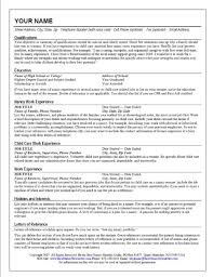 Resume Example For Nanny Job Position Featuring Six Years