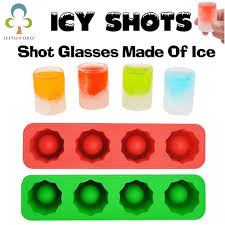 ice cube tray mold makes shot glasses ice mould ice tray summer drinking tool ice shot glass silicone mould kitchen accessories