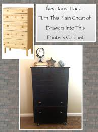 diy ikea tarva dresser. Ikea Tarva Hack - Turn This Plain Dresser Into A Faux Printer\u0027s Cabinet / Apothecary Chest! Diy