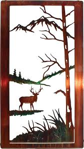 nature wildlife elk window frame metal wall art hanging by neil rose in color wash only 20 h x 11 1 4 w on neil rose metal wall art with nature wildlife elk window frame metal wall art hanging