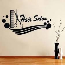 barber sticker name scissors hair salon decal neutral haircut poster vinyl wall art