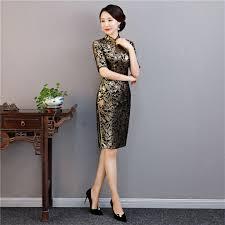 <b>Shanghai Story</b> Knee Length <b>Vintage Qipao</b> Velvet Chinese ...