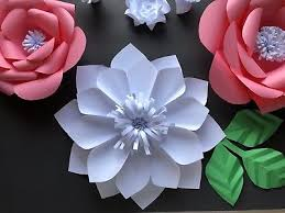 Small Paper Flower Templates Paper Flower Template 4 Small Diy 4 99 Picclick