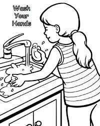 spanish hand washing coloring pages your sun