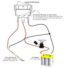 Wiring diagram 12 volt lighted rocker switch f66b fair for lights with