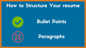 Modern Bullet Points Resume Resume Bullet Points Vs Paragraphs Which Is Better Zipjob