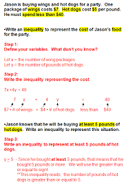 one step inequality word problems worksheet