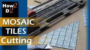 mosaic tiles cutting how to cut mosaic tile straight diamond dry cut