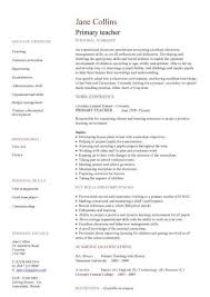 Resume Format For Teachers In India - Best Resume Collection