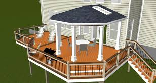 Deck Design Plans Software Adding A Covered Area On An Existing Deck Deck Design