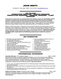 Operations Management Resume Examples Best Operations Management