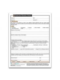employee warning forms employer warning legal forms laborlawcenter com