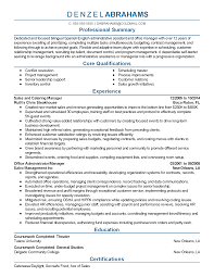 professional catering manager templates to showcase your talent resume templates catering manager