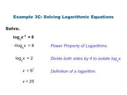 example 3c solving logarithmic equations