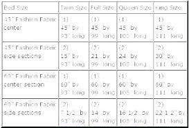 Bed Chart Bed Sheet Sizes Chart Freesell Club