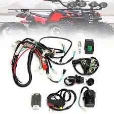 wiring harness loom start switch coil kit pit bike atv 4 go kart Engine Wiring Harness at Pit Bike Wiring Harness Kits