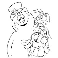 Small Picture 10 Cute Frosty The Snowman Coloring Pages For Toddlers