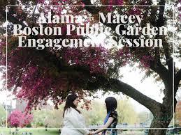 boston public garden engagement
