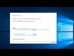 install net framework 3 5 on windows 10