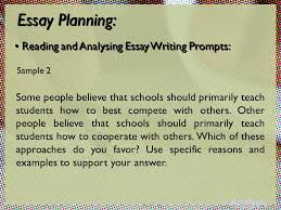 writing section integrated task independent task essay planning 19 essay planning reading