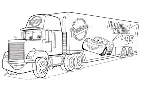 Cars Mack Coloring Pages Sketch Coloring Page