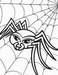 Small Picture Spider Coloring Pages For Halloween anfukco