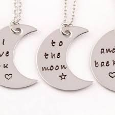 mother daughter jewelry love you to