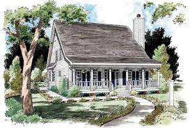 Eplans Low Country House Plan   Creole Cottage   Square Feet    Front