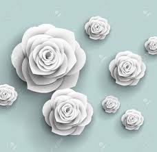 Rose Flower With Paper 3d Paper Rose Flowers Vector Abstract Background Royalty Free