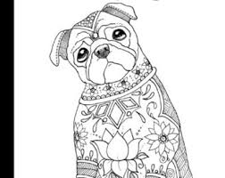 Small Picture Pug coloring book Etsy
