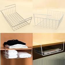 best desktop organizer popular multipurpose iron hanging basket rack storage holder for under desk shelves with