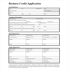 application for credit account template free credit application template free credit application form free