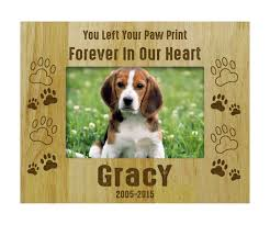 relaxing s by printdotpot wood engraved rustic pet memorial gift in dog picture frames