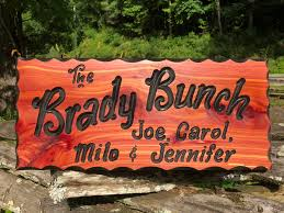 hanging family name wood sign rustic wooden sign designs
