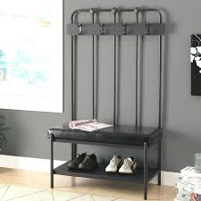 storage coat rack furniture magnificent bench with ...