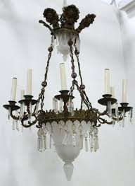 image 1 french brass milk glass chandelier bistro globe milk glass chandelier