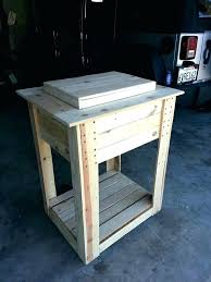 outdoor wooden cooler ice chest wood on stand pallet full tutorial ideas made and diy
