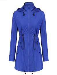 trendy style 2 black soteer womens casual lightweight waterproof rain jacket long sleeve hooded raincoat outerwear