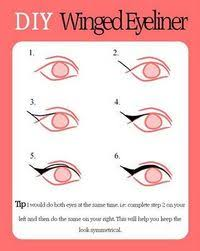Eyeliner Chart Diy Winged Eyeliner Chart Helpful I Can Never Do It Right