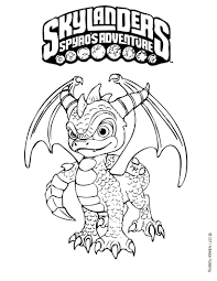 Small Picture Spyro coloring page More Skylanders coloring sheets on hellokids