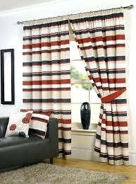 red striped curtains next grey blue and brown home design ideas white black