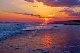 peaceful ocean sunset image