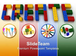Baby Building Blocks Powerpoint Templates Create Word Lego Business