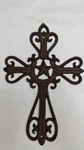 cast iron cross wall hanging by countrygooseboutique on etsy 15 00 on black metal cross wall art with decorative metal wall crosses metal cross decorative wall hanging