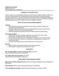 Sample Resumes For Teachers With No Experience Teacher Resume With