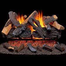 com duluth forge vented natural gas fireplace log set 30 in 65 000 btu heartland oak home kitchen
