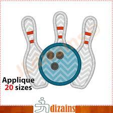 Bowling Machine Embroidery Designs Bowling Applique Design Bowling Embroidery Design