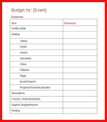 Event Budget Sample Event Budget Template Threeroses Us