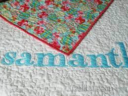 Oh, Baby! How to Make an Easy Appliquéd Name Quilt & Baby Name Quilt Adamdwight.com