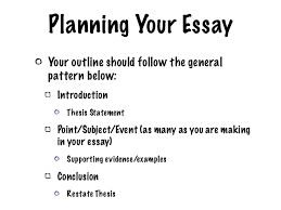 planning an essay co planning an essay